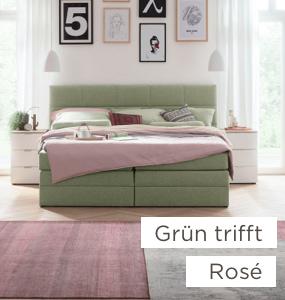 Grün trifft Rosé