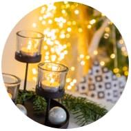 Weihnachtsbeleuchtung für Innen
